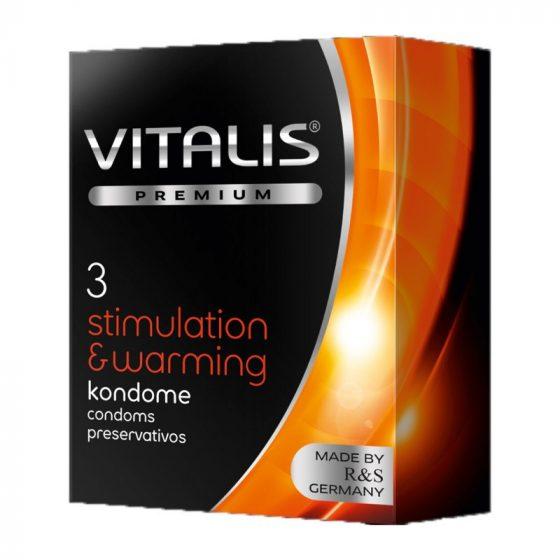Vitalis Stimulation & Warming óvszer melegítő hatással (3 db)