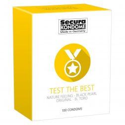 Secura Test the Best 100 db-os óvszer válogatás