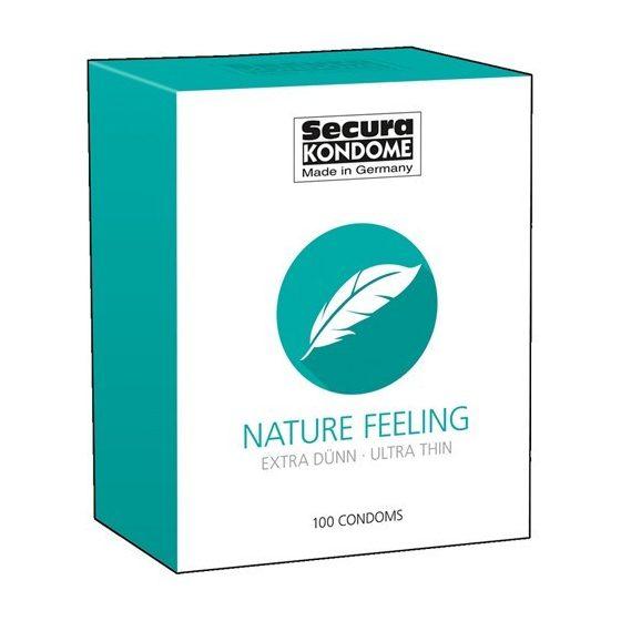 Secura Nature Feeling 100 db óvszer, vékonyabb falvastagsággal