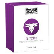 Secura El Toro óvszer, potenciagyűrűvel (100 db)