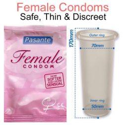 Pasante Female óvszer hölgyeknek (3 db)