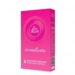 Love Match Stimolante redőzött óvszer (6 db)