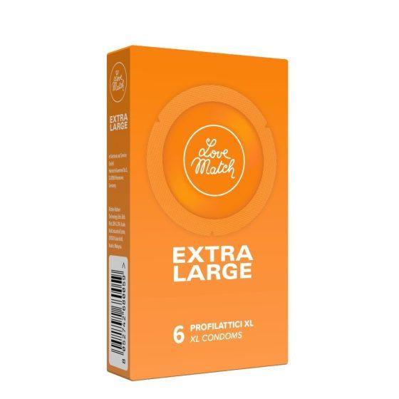 Love Match Extra Large nagy méretű óvszer (6 db)