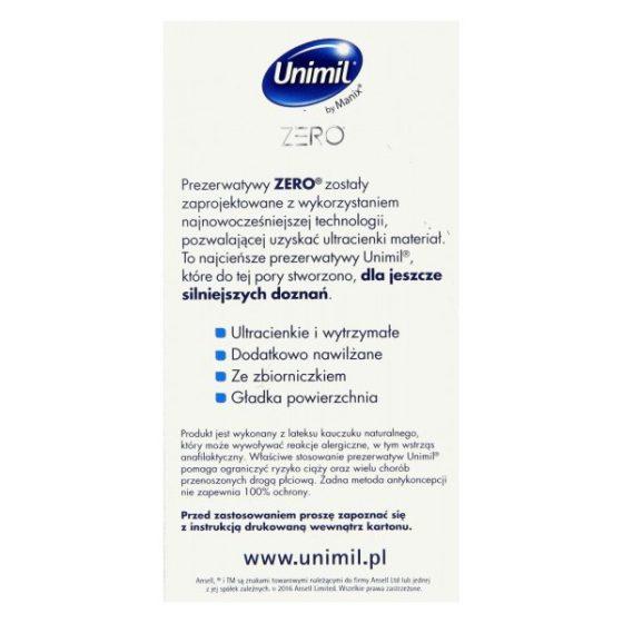 Unimil Zero ultra vékony óvszer (10 db)