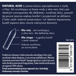 Unimil NaturalAloe óvszerek Aloe Vare-s síkosítóval (3 db)
