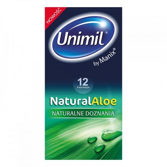 Unimil NaturalAloe óvszerek Aloe Vare-s síkosítóval (12 db)