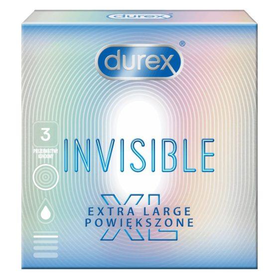 Durex Invisible XL 3 db extra vékony, nagyobb méretű óvszer