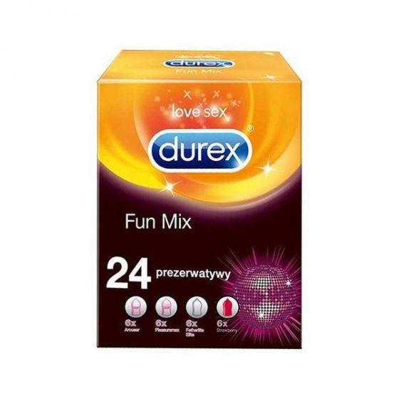 Durex Fun Mix 24 darabos óvszer válogatás