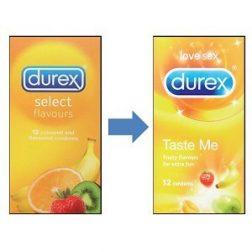 Durex Taste Me 12 db ízesített, színes óvszer