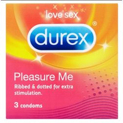Durex Pleasure Me 3 db különleges felületű óvszer