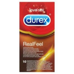 Durex Real Feel 10 db latex mentes óvszer