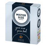 Mister Size 57. - 3 db egyedi méretű óvszer, extra vékony óvszer (57 mm)