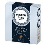 Mister Size 57. - 3 db egyedi méretű, extra vékony óvszer (57 mm)