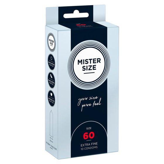 Mister Size 60. - 10 db egyedi méretű, extra vékony óvszer (60 mm)
