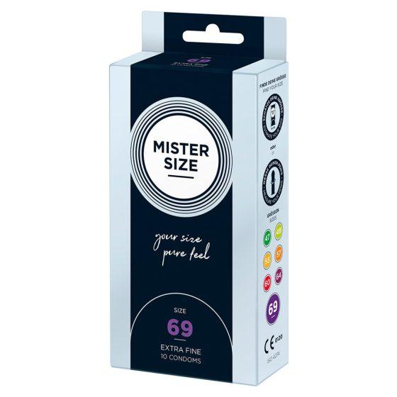 Mister Size 69. - 10 db egyedi méretű, extra vékony óvszer (69 mm)