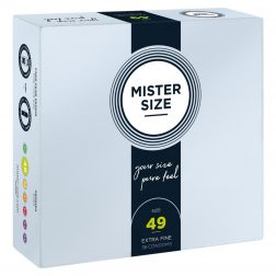Mister Size 49. - 36 db egyedi méretű, extra vékony óvszer (49 mm)
