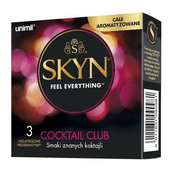 Skyn Cocktail izesített, latex mentes óvszer (3 db)