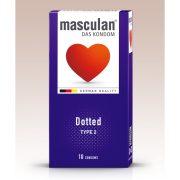 Masculan Dotted rücskös felületű óvszer (10 db)