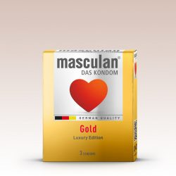 Masculan Gold arany színű, vanília illatú óvszer (3 db)