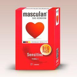Masculan Sensitive, extra vékony óvszer (21 db)